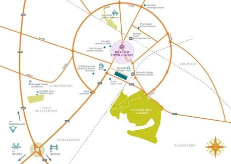 Graven Hill Location map
